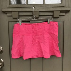 Women's pink 100% linen skirt - Size Medium